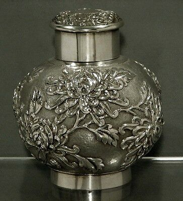 Chinese Export Silver Tea Caddy                 COLLECTION                14 oz