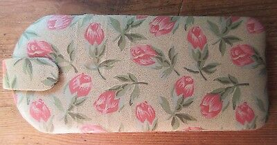 New Glasses Case Gold Fabric Pink Roses