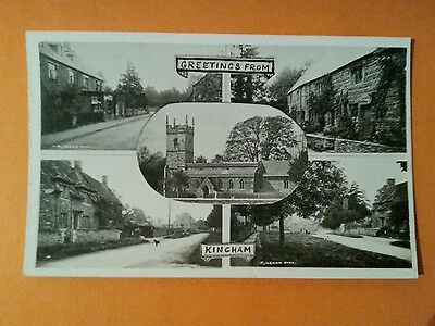 Rp Kingham Village Oxfordshire Frank Packer Chipping Norton Oxon Real Photo