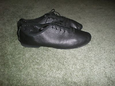 """""""freed Of London"""" Girls Black Leather Dance Shoes S1.5"""