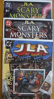 JLA: Scary Monsters #2,4,Welcome to the Work Week (2003, DC)
