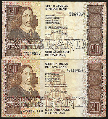 South Africa 20 Rand 1984 & 1990 - details in listing