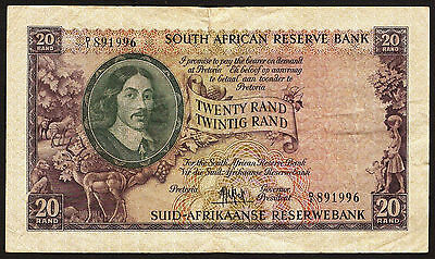 South Africa 20 Rand ND(1961) P.108 F condition