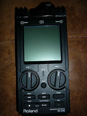 Roland R-26 6-Channel  Portable Handheld Audio Field Recorder + 4GB SD Card