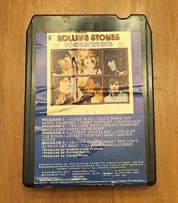 8 TRACK ROLLING STONES 30 GREATEST HITS 1977 Tested