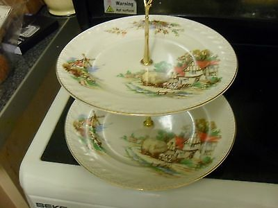 two tier cake stand same plates