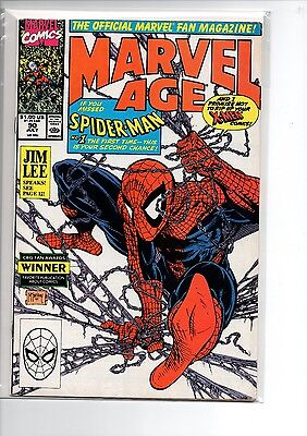Marvel Age #90 // Todd McFarlane Spider-Man Cover // VF-