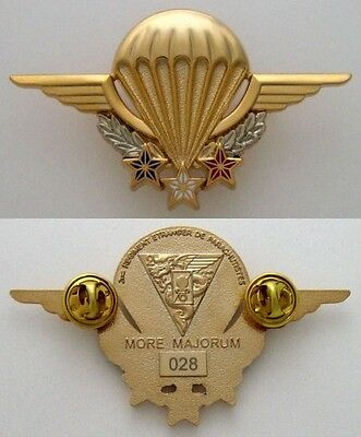 French Foreign Legion Etrangere 2 Rep Back - High-Altitude Instructor - Numbered