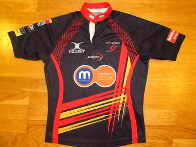 Newport Gwent Dragons Wales Rugby Shirt Jersey Camiseta Maglia GILBERT Size M