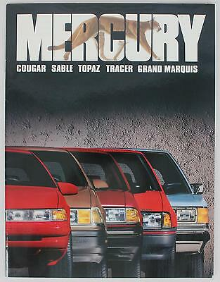 Lincoln Mercury 1990 Cougar Sable Topaz Tracer Grand Marquis Sales Brochure