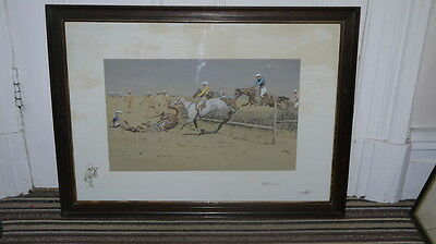 """Rare Snaffles Original Pencil Signed Print """"sport In The Shiney - Chasing"""" !!"""