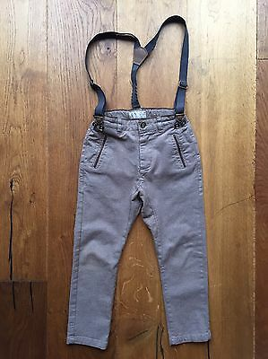 Zara Boys Trousers With Suspenders, Size 5 Years