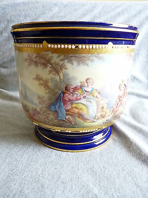 18th century Sevres - very fine hand painted planter - Vincennes - RARE –OP/69C