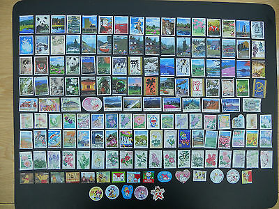 Japan stamps. 150 different pictorials used off paper includes prefectures. 146