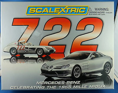 Scalextric Mercedes-Benz 722 Celebrating the 1955 Mille Miglia Boxed Set