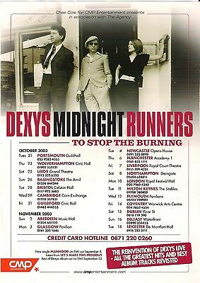 Dexys Midnight Runners - Tour Poster (A3)