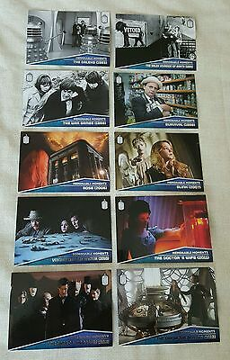 Topps Dr Who Memorable Moments 10 Card Silver Foil Set