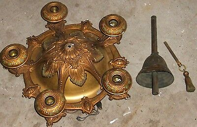 Antique Copper Brass Ceiling Fixture Light Chandelier