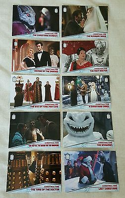 Topps Dr Who Christmas Time 10 Card Silver Foil Set