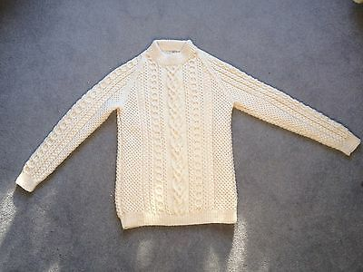 """Arran Wool Hand Knitted Jumper, 38""""  Chest, Unwanted Gift"""