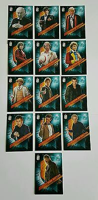 Topps Dr Who Timeless The Doctors Across Time 13 Card Set
