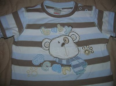 "Boys' Blue ""baby bear"" Striped Long Sleeve Top (Next, 0-3 months) *EXCELLENT*"