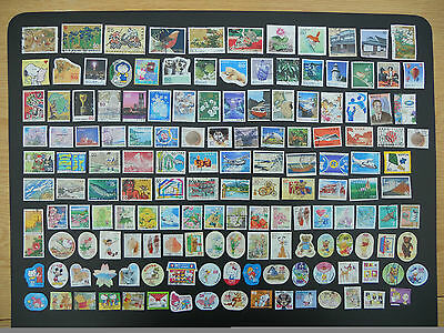 Japan stamps. 150 different pictorials used off paper including prefectures. 157