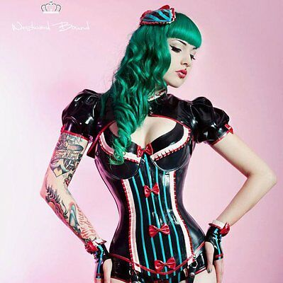 NP 115€ latex Bolero neu heavy rubber pin up westward bound passend zu korsett