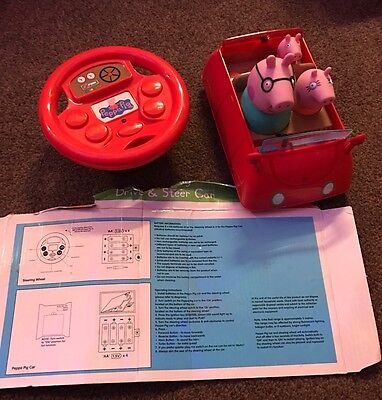 Peppa Pig Drive And Steer Remote Control Car With Instructions.