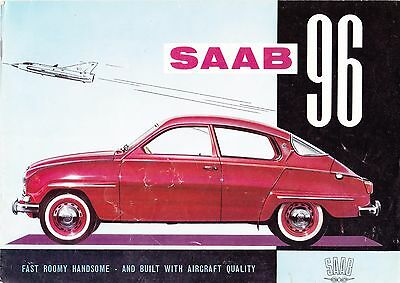 1961 Saab 96 Sales Brochure   Free Shipping In The Usa   Sweden