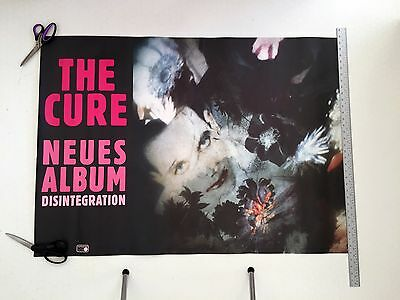 Very Rare German 1989 The Cure 'Disintegration' Album Artwork Giant Fly Poster