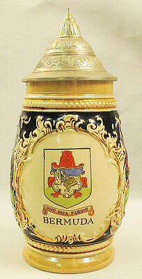 Marzi And Remy Lidded Beer Stein – Souvenir Of Bermuda