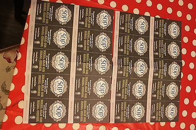 Wetherspoons CAMRA vouchers for 50p off a pint of real ale. 20 tokens for £10