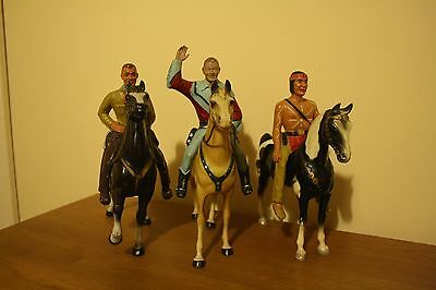 Roy Rogers Hartland Statues Lot 1950s Rare -  Ideal Christmas Gift