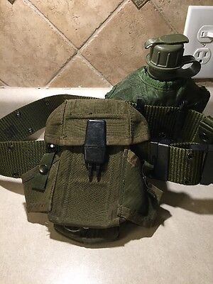 Air Force Canteen With Web Belt And Ammo Pouch