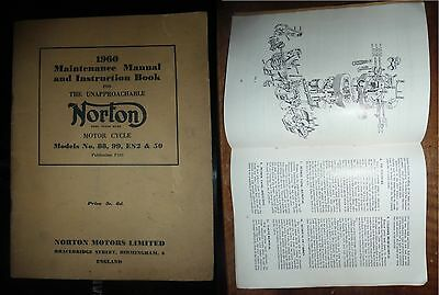 Maintenance Manual and Instruction Book for NORTON 1960