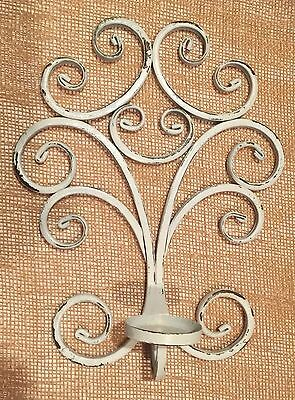 Shabby Chic Metal Candle Holder Wall Sconce  Country Cottage