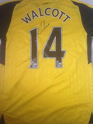 Theo Walcott signed Arsenal 2016-17 away shirt Extra Large Mens NEW