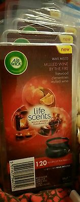 6 X Mulled Wine Xmas By The Fire Air Wick Life Scents 120 Hours New Sealed