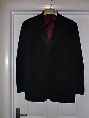 Mens black formal/evening/dinner jacket Christmas/New Years Eve Size 40S