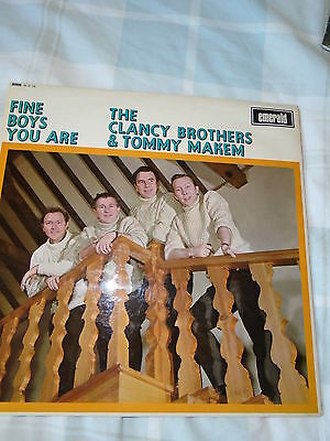 THE CLANCY BROTHERS Fine Boys You Are Ex Emerald 1962 UK LP