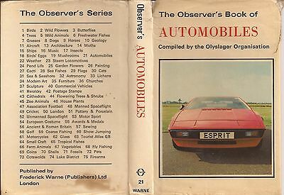 Observer's Book Of Automobiles 1978 Edition.