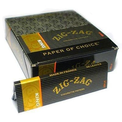 24 Zig Zag King Size Rolling Cigarette Papers - Full Box / Free Shipping