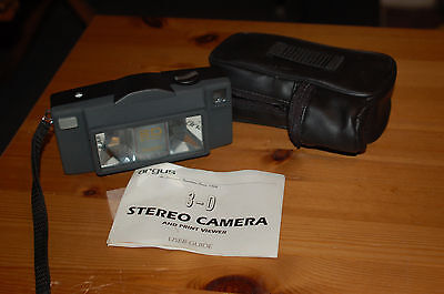Argus 3D Stereo 35mm Camera - Case and Instructions - Interesting for Lomography