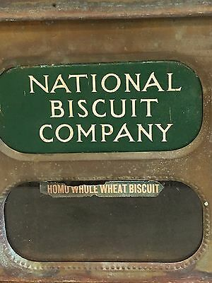 Vintage Metal National Biscuit Co Box/ Store Display Whole Wheat Biscuit