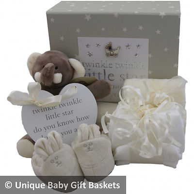 Packed keepsake memory box case unisex boy girl baby shower nappy cake baby gift