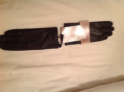 Marks & Spencer Ladies Brown Leather Gloves Brand New