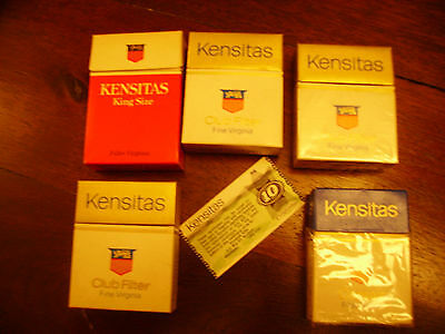 Vintage Kensitas cigarette packet collection + Coupon 1970's
