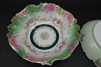 Antique Jpf Germany Hand Painted Bowl