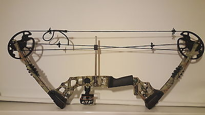 Archery camo coumpound bow. Adjustable with extras